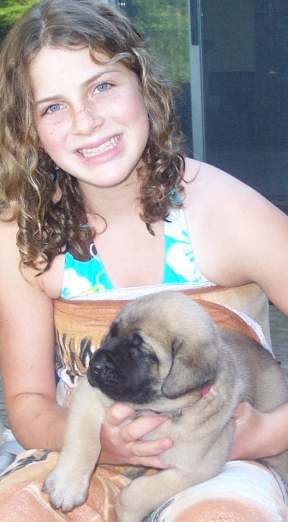 Breanna with a puppy