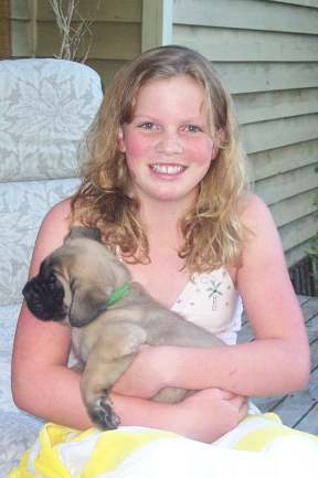 Megan with a puppy